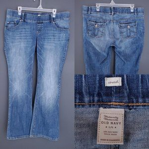 OLD NAVY Maternity Bootcut Jeans Med Wash Low Rise